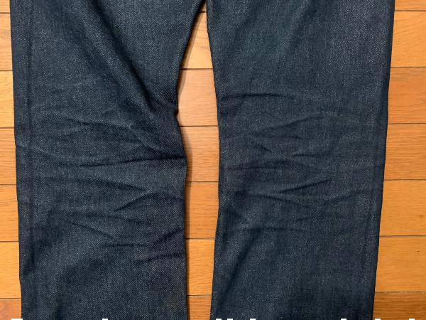 4ヶ月着用後の膝裏部分