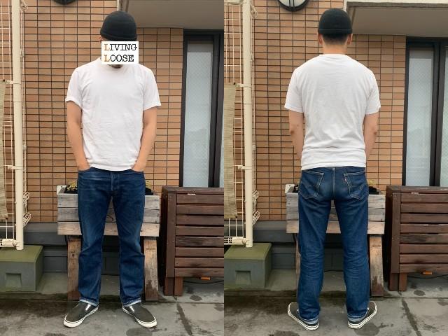 UNIQLO UのクルーネックTシャツの着用画像