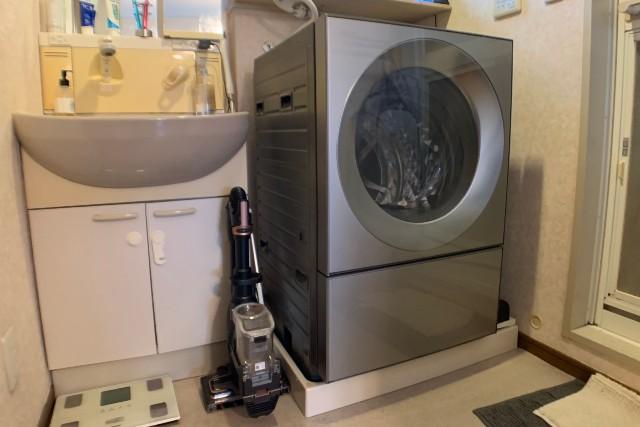 無事にドラム式洗濯機を設置